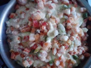 запеченные кабачки с овощами